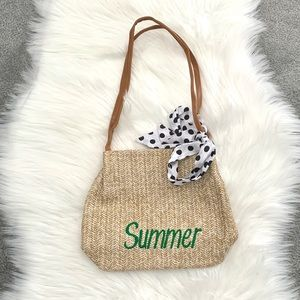 Summer rattan bag 18 inches long new